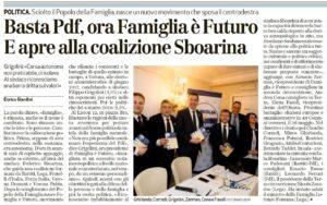 Famiglia è Futuro conferenza stampa Grigolini Zerman Cona