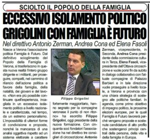 LaCronaca Grigolini 29gen19 Famiglia è Futuro